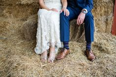 A Rustic Barn Wedding With a Bride in Catherine Deane and a Dried Flower Crown