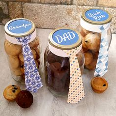 Here's a sweet Father's Day idea for your favorite dads and granddads. Fill a mason jar with their favorite goodies, add a homemade tag, and watch 'em grin from ear to ear.