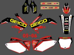 New Style   (0091) TEAM GRAPHICS&BACKGROUNDS DECALS STICKERS Kits for Honda CRF450 CRF450R 2005 2006 CRF 450 450R #Affiliate