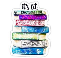 """""""Stack of Books"""" Stickers by Ang Frank Tumblr Stickers, Free Stickers, Printable Stickers, Laptop Stickers, Planner Stickers, Happy Stickers, Vie Motivation, Bullet Journal, Stack Of Books"""