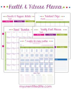 Health and Fitness Planner A brand new year is a great way to begin a year of changes. Why not start by getting a free way to track all your health needs. In one place you can download and print a water tracker, fitness tracker, food tracker and a weekly meal planner. This way …
