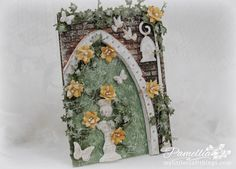 My Little Craft Things: Anything But Cute Mixed Media Challenges - #1 - Vintage Garden