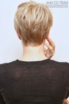 LA: A MICHELLE WILLIAMS TYPE SHORT PIXIE. Cut/Style: Anh Co Tran. #pixie #hair #model #style #beautiful #anhcotran #ramireztransalon #shorthair #blonde