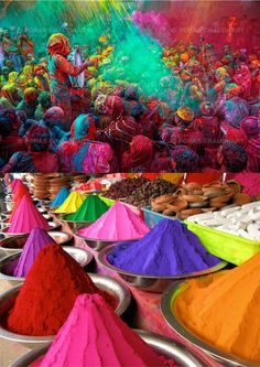 """Holi"" is a religious spring festival celebrated by Hindus, as a festival of…"
