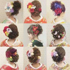 @ry01010828のInstagram写真をチェック • いいね!1,059件 Bridal Hair Flowers, Flower Bouquet Wedding, Party Hairstyles, Bride Hairstyles, Kawaii Hairstyles, Japanese Wedding, Hairdo Wedding, Hair Arrange, Hair Setting