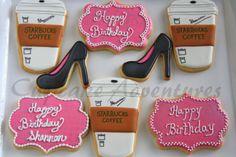 Birthday Cookies via Cupcake Adventures