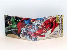 Comic Book Wallet// New 52// Justice League// Green Lantern Hal Jordan, Cyborg, and Flash (Barry Allen), $4.00
