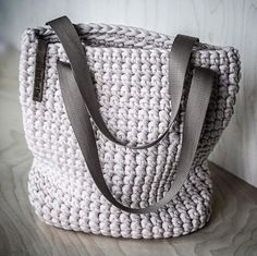 WEBSTA @ knitknotkiev - New Bisque color of totes are available! Новая бисквитная торбочка#KnitKnotKiev #crochet #totebag #tote #tshirtyarn #zpagetti #purse #bag #handmade #handmadeisbetter @crochetcurator @handmadeisbetter #crochetcurator @creatorslane #creatorslane