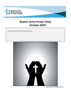 Weekly prayers from Baptists Together for personal or church use