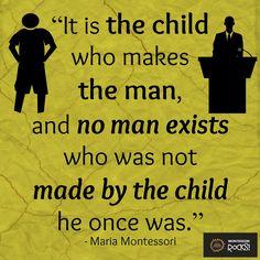 We love Maria Montessori quotes! #MontessoriRocks