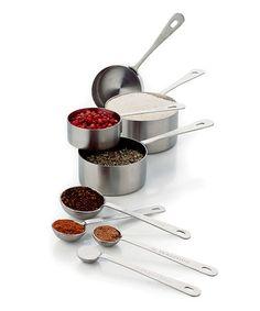 Look at this #zulilyfind! Stainless Steel Measuring Cup & Spoon Set by Chicago Metallic Bakeware #zulilyfinds