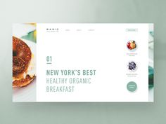 First exploration for an organic food brand website.  What do you think?  Website Template for Designers