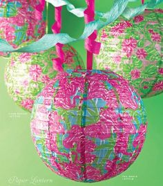 Lilly print paper lanterns!