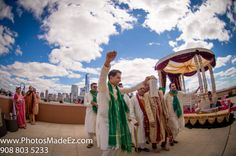 Sindhi & Punjabi Wedding in Jersey City Hyatt, NJ by PhotosMadeEz with Elegant Affairs Inc. + SV Bridal Concepts, Sanjana Vaswani, www.svbridalconce...+ Moghul Catering, Sweetpea planners. Featured in Maharani Weddings. Indian Wedding at Jersey City Hyatt.