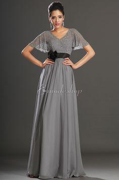 Etui kurze Ärmeln drapiertes Abendkleid mit V-Ausschnitt mit natürlicher Taille