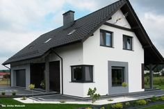 Dom w jabłonkach Garage Doors, Mansions, House Styles, Outdoor Decor, Home Decor, Houses, Decoration Home, Manor Houses, Room Decor