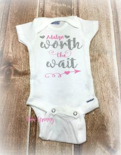 Worth the Wait Baby Shower Gift New Baby Gift by BowGrannyBowtique