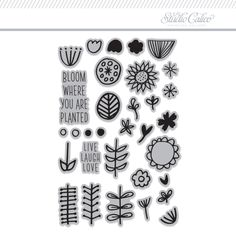 Picture 1 of Stamp Set: Bloom by Life.Love.Paper