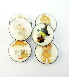 SMALL Cute Wizard of Oz Handmade Buttons. Wizard by buttonsbyrobin