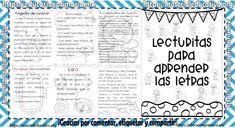 Excelentes lecturitas para aprender las letras para primer y segundo grado de primaria | Material Educativo Spanish Lessons For Kids, Preschool Spanish, Letter Activities, Classroom Activities, Preschool Education, Teaching Materials, Grade 1, Homeschool, Lettering