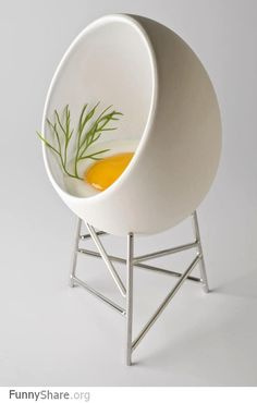 Do you eat breakfast in it? Or out of it? Either way, this puts a fun spin on anyone's morning! #chairjunky    http://attheoffice.com