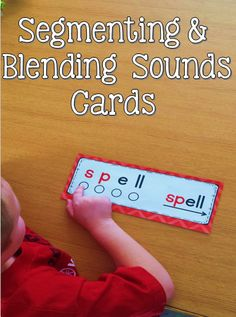 Segmenting & Blending Sounds Cards to help your little ones with phonics skills!