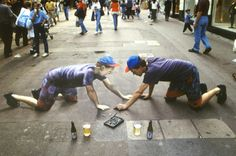 Amazing 3D Graffiti Artists: Sidewalk Chalk
