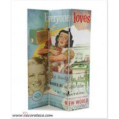 """Original y divertido biombo vintage """"Fifties Style"""" - DECORATECA.COM"""