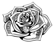 Money May Design by c. Rose Tattoo Stencil, Rose Drawing Tattoo, Tattoo Design Drawings, Tattoo Sketches, Hand Tattoos, Best Sleeve Tattoos, Tattoo Sleeve Designs, Tattoo Designs Men, Card Tattoo Designs