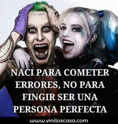 Uploaded by Find images and videos about phrases, frases and joker and harley quinn on We Heart It - the app to get lost in what you love. Arley Queen, Jokes And Riddles, The Ugly Truth, Joker Quotes, Joker And Harley Quinn, Love Messages, Favim, Spanish Quotes, Humor
