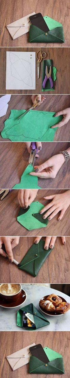 DIY Leather Envelope Case … … More