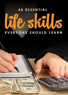 Do you have the basic life skills to be an adult? Don't miss this massive list of the 48 life skills EVERYONE should learn. Life Skills Class, Teaching Life Skills, List Of Skills, Skills To Learn, Life Lessons, Learning Skills, Learn A New Skill, Home Economics, Survival Skills