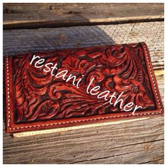 Wallet hand tooled by Restani Leather