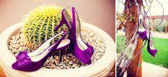 purple wedding shoe fun