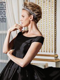 The Royal Digest: Tiara Time: Princess Charlene's Van Cleef & Arpels Ocean Tiara