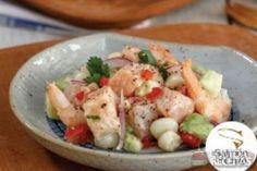 Receita de Ceviche de salmón de chile com camarão - Comida e Receitas