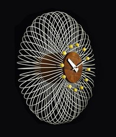 The 'Birdcage', designed by Irving Harper, of George Nelson and Associates, for the Howard Miller Clock Company.