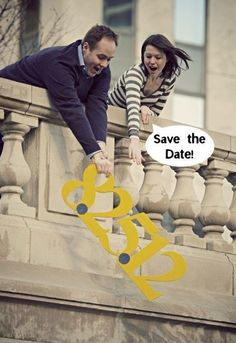 Make a silly save the date card.