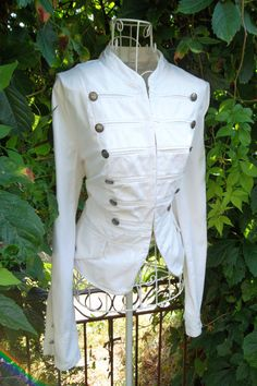 Vintage 1980s Drummer boy Military jacket Steampunk by shmooozin, $41.00