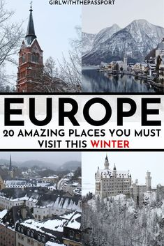 Whether you are looking to escape the cold or embrace it, check out these 20 must see places in Europe in winter. From Switzerland to Malta, you will find a destination that is perfect for anyone traveling to Europe during the winter. #TravelEurope #WinterTravel #VisitEurope #WinterInEurope Backpacking Europe, Europe Travel Guide, Europe Packing, Traveling Europe, Packing Tips, Travel Packing, Passport Travel, Wanderlust Travel, Places In Europe