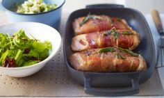 lorraine pascale Salmon saltimbocca with gremolata potatoes and crispy sage leaves