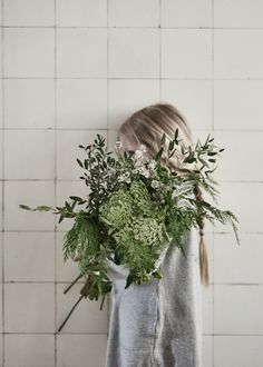 girl with flowers /