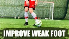 Weak foot letting you down? In this video. I'll show you 3 KEY PRINCIPLES to improve your weak foot faster than ever before. Plus, helpful drills. Soccer Drills, Soccer Tips, Muscle Memory, Let You Down, Hip Ups, Back Off, I Cant Even, Things That Bounce, Improve Yourself