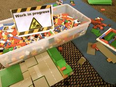 """Make a """"Work in Progress"""" sign. Frame it, and put it in the block are for children to use when they want to save their constructions."""
