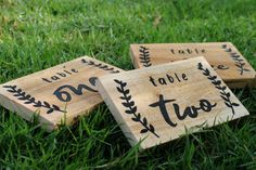 Table Numbers Wedding Wooden Table Numbers by BlueLionessDesign Wood Table Numbers, Wedding Table Numbers, Seating Chart Template, Free Wedding Invitations, Custom Wooden Signs, Seating Chart Wedding, Wedding Signs, Wedding Ideas, Wooden Tables