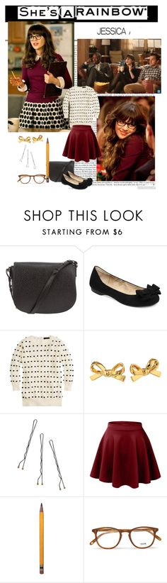 """""""New Girl is back!"""" by priscilla12 ❤ liked on Polyvore featuring Alexander Wang, Jessica Simpson, J.Crew, Kate Spade, Conair, LE3NO, Garrett Leight, NewGirl and jessicaday"""