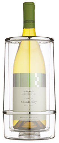 Kitchen Craft Barcraft Seau à vin en acrylique double paroi Coffre cadeau: Maintient le vin en frais pendant plusieurs heures Acrylique…