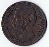1880 Romania Carol I 2 Bani Coin KM 11.2 World Coin Copper