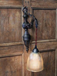 Decorative antique brass wall light £124