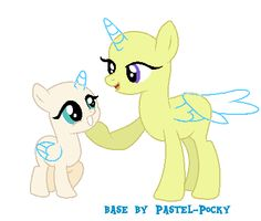 Mom and filly MLP Base by Pastel-Pocky on DeviantArt